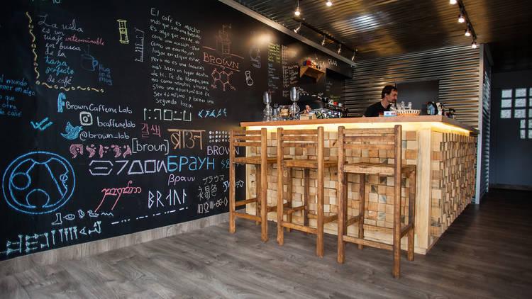 brown caffeine lab