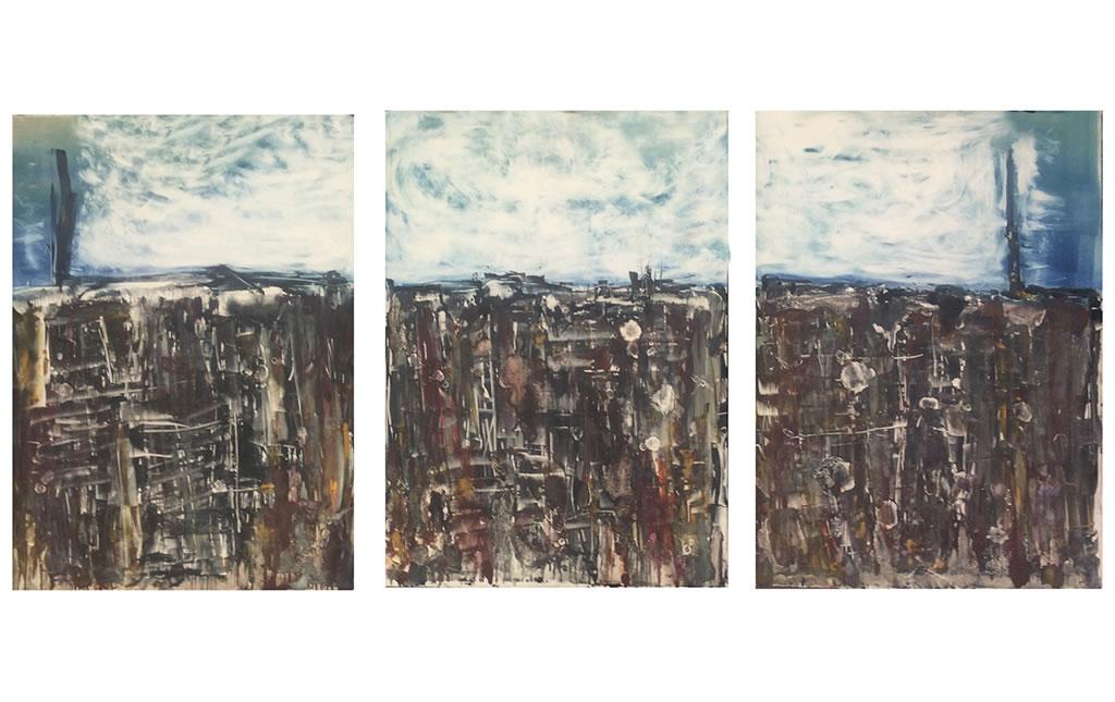 Lucía Ortiz, The First Wall, 2016. Monotipo sobre papel Hahnermühle.