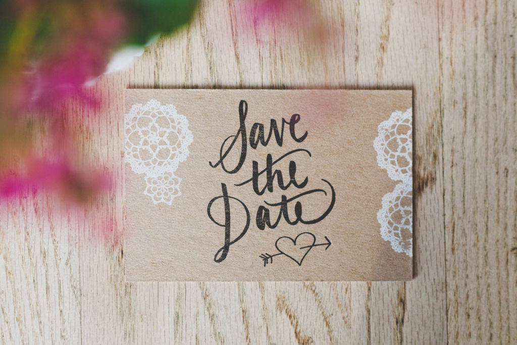 10 tips para planear tu boda - 5. Save the date portada