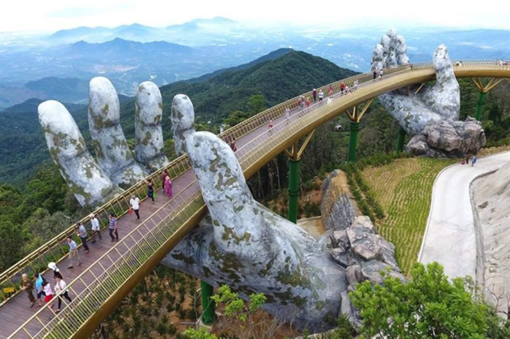 Conoce el impresionante Puente Dorado de Vietnam - Puente Dorado Vietnam Portada