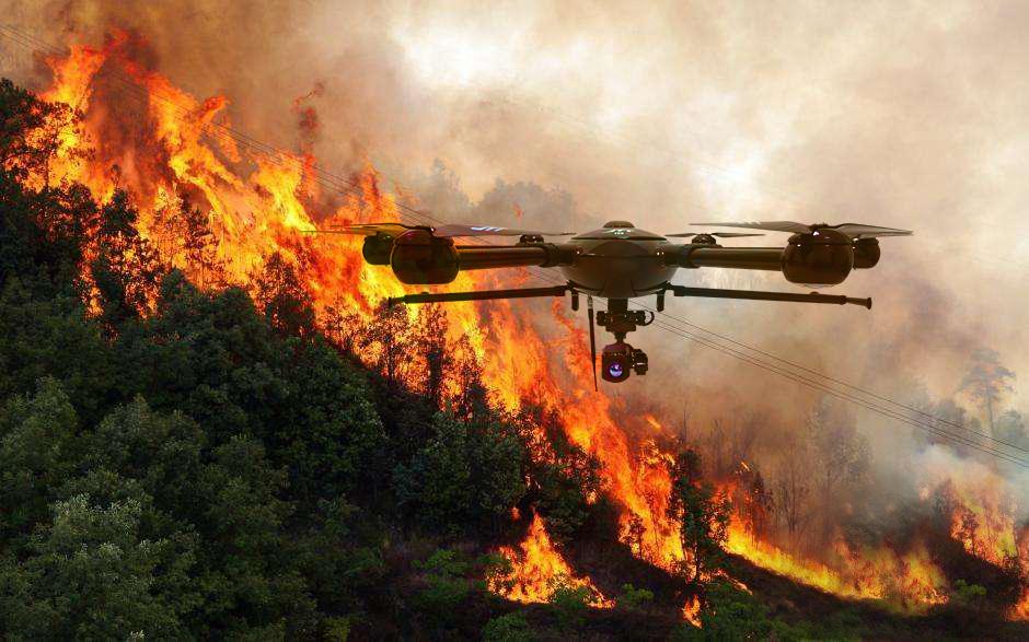 Latvian drones, diseñados para ayudar en incendios - latvian drones
