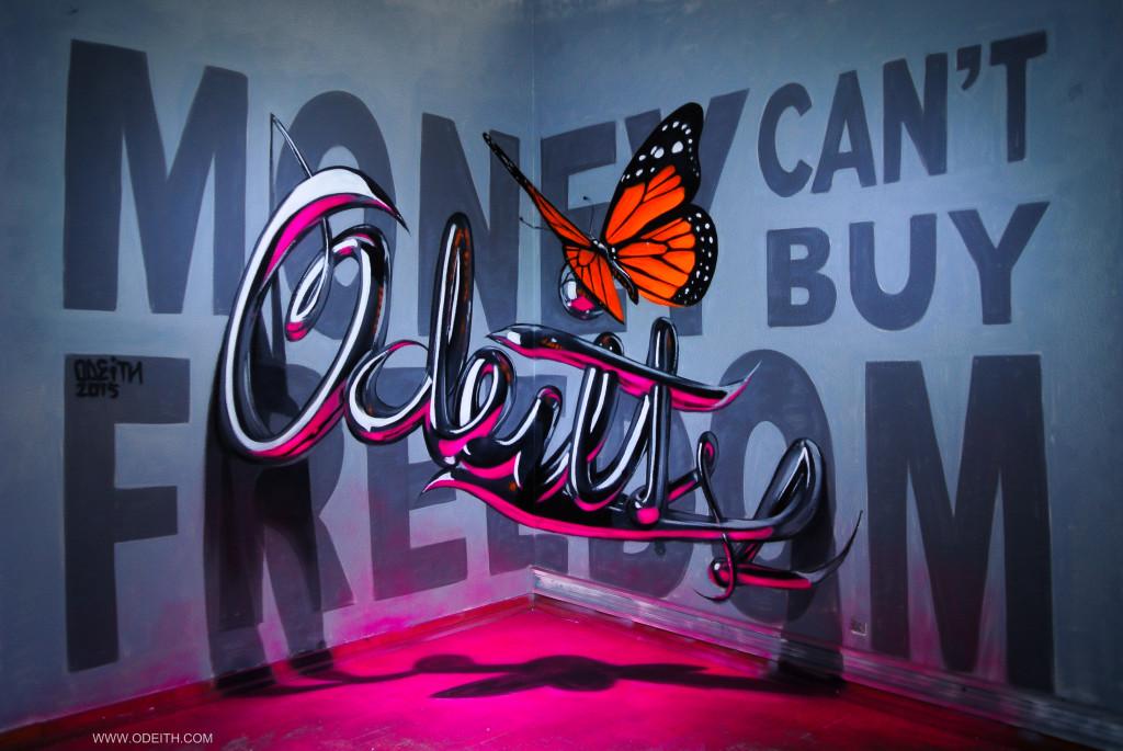 Los grafitis en 3D más impresionantes de Odeith - grafitis en 3D portada