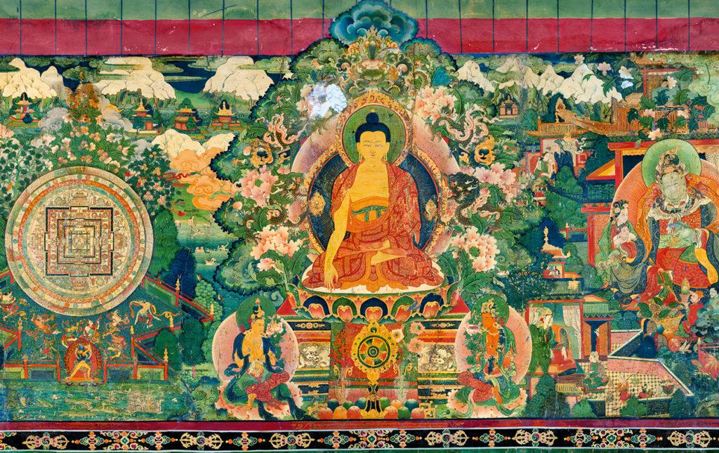 Thomas Laird y los murales del Tíbet - pintura mural arte tibet historia
