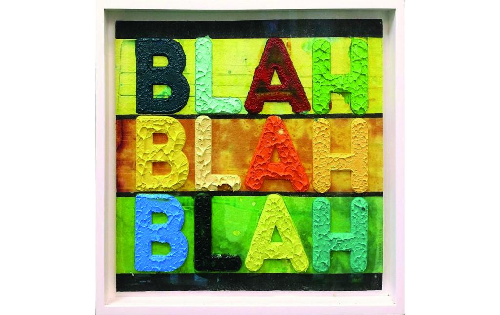 Home wishlist - MEL BOCHNER 'BLAH, BLAH, BLAH'