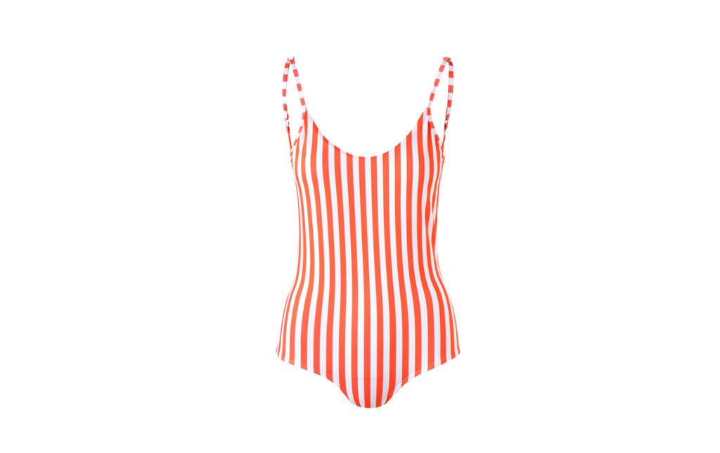HOTstuff: piezas de temporada para él y para ella - traje de baño rayas rojo blanco