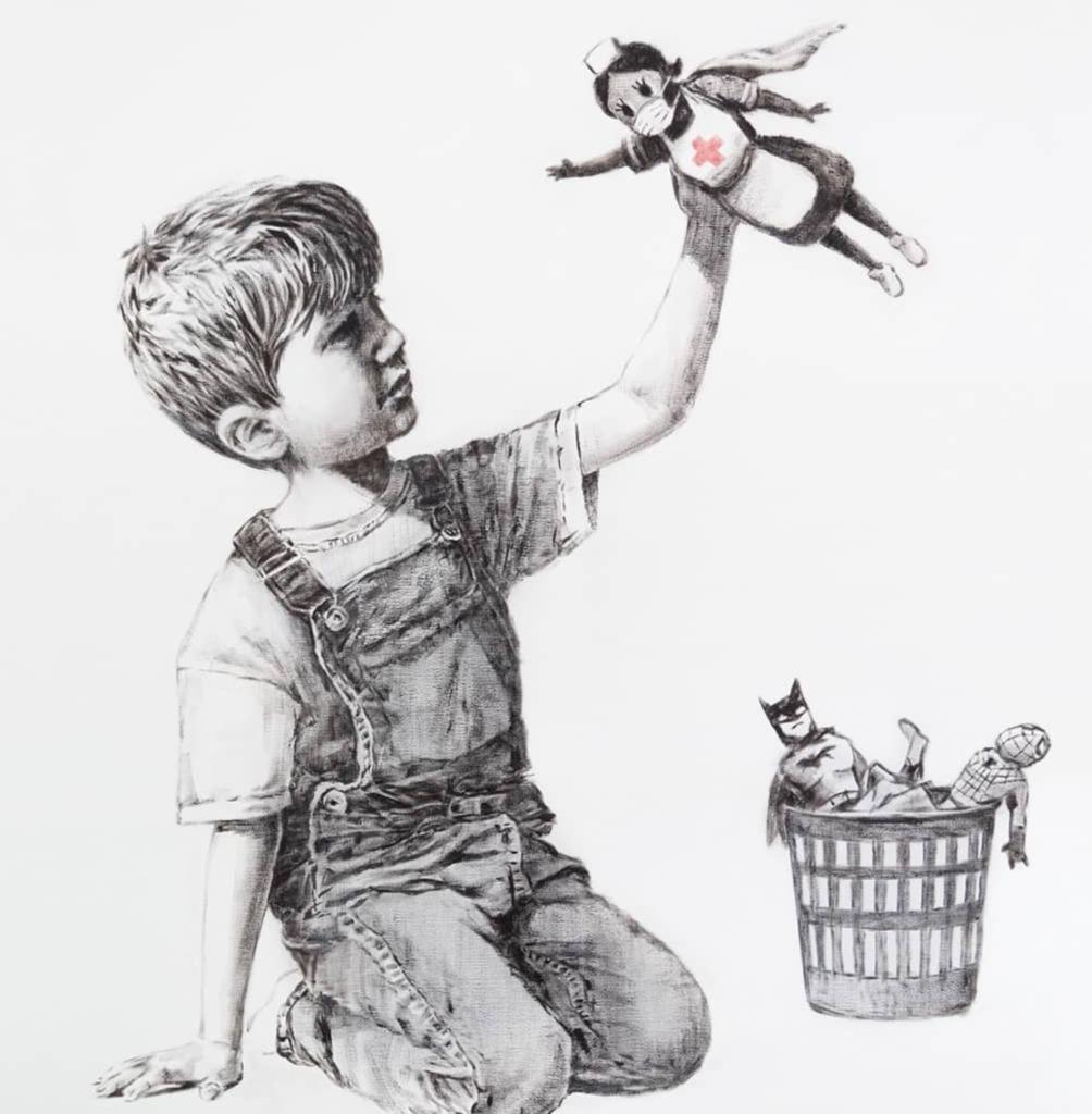 Banksy rinde homenaje a todos los médicos con una obra de arte - image0