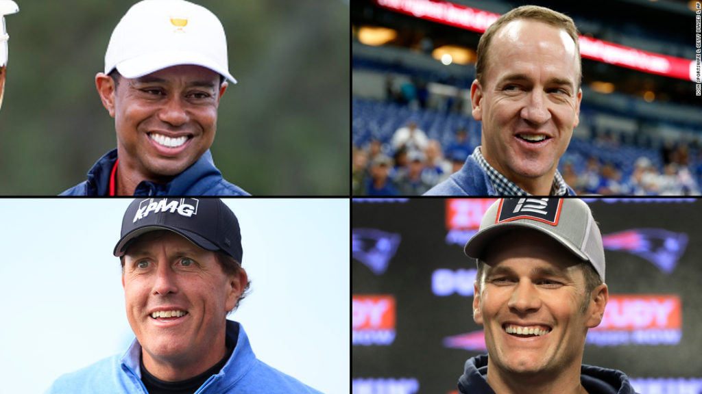 The Match: Champions for Charity. Tiger Woods, Tom Brady, Phil Mickelson y Peyton Manning - The Match- Champions for Charity- Tiger Woods, Tom Brady, Phil Mickelson y Peyton Matting portada