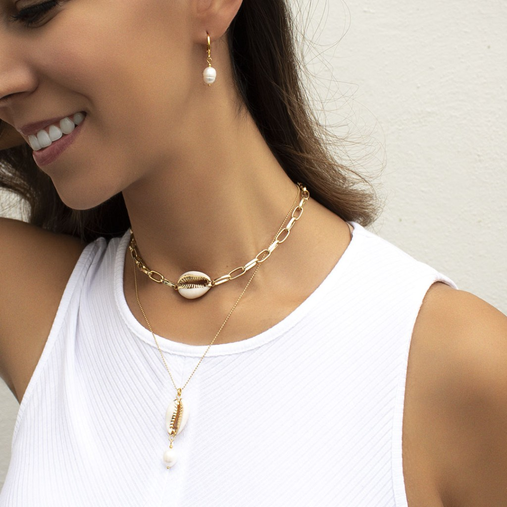 ONNE Acevedo Taja, la joyería mexicana con piezas únicas hechas a mano - Collar Golden Shell. ONNE Acevedo Taja, la joyería mexicana de piezas únicas hechas a mano.